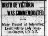 """""""Birth of Victoria Was Commemorated"""""""