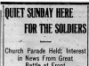"""Quiet Sunday Here for the Soldiers"""