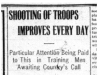 """Shooting of Troops Improves Every Day"""