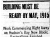 """Building Must be Ready by May, 1915"""
