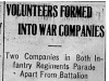 """Volunteers Formed into War Companies"""