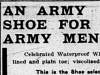 """An Army Shoe for Army Men"""