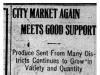 """City Market Meets Good Support"""