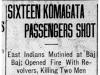 """Sixteen Komagata Passengers Shot"""