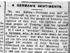 """A German's Sentiments"""