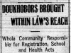 """Doukhobors Brought Within Law's Reach"""