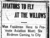 """Aviators to Fly at the Willows"""