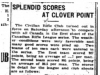 """Splendid Scores at Clover Point"""
