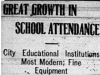 """Great Growth in School Attendance"""