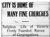 """City is Home of Many Fine Churches"""