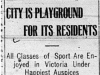 """""""City is Playground for its Residents"""""""