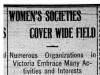 """Women's Societies Cover Wide Field"""
