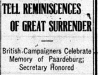 """Tell Reminiscences of Great Surrender"""