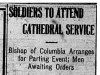 """Soldiers to Attend Cathedral Service"""
