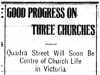 """Good Progress on Three Churches"""