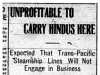 """Unprofitable to Carry Hindus Here"""