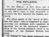 """The Potlatch"""