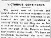 """""""Victoria's Contingent"""""""