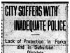 """""""City Suffers with Inadequate Police"""""""