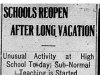 """Schools Reopen After Long Vacation"""