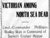 """Victorian Among North Sea Dead"""