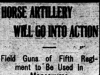 """Horse Artillery Will Go Into Action"""