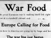 """""""War Food"""""""