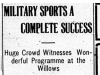 """Military Sports a Complete Success"""