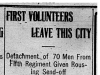 """First Volunteers Leave This City"""