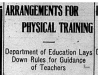 """""""Arrangements for Physical Training"""""""