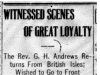 """""""Witnessed Scenes of Great Loyalty."""""""