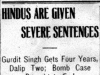 """Hindus Are Given Severe Sentences"""
