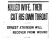 """Killed Wife, Then Cut His Own Throat"""