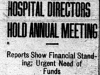 """Hospital Directors Hold Annual Meeting"""