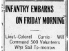 """Infantry Embarks on Friday Morning"""