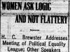 """""""Women Ask Logic and Not Flattery"""""""