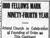 """Odd Fellows Mark Ninety-Fourth Year"""