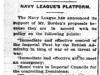 """Navy League's Platform"""