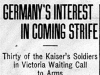 """Germany's Interest in Comng Strife"""