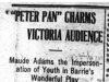 """""Peter Pan"" Charms Victoria Audience"""
