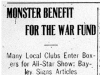 """Monster Benefit For the War Fund"""