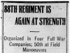 """88th Regiment is Again at Strength"""