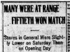 """Many Were at Range - Fiftieth Won Match"""