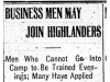 """Business Men May Join Highlanders"""