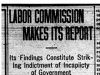 """Labor Commission Makes Its Report"""