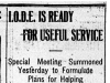 """I.O.D.E. Is Ready for Useful Service"""