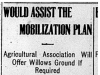 """Would Assist the Mobilization Plan"""