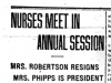 """Nurses Meet in Annual Session"""