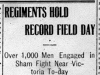 """Regiments Hold Record Field Day"""