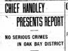"""Chief Handley Presents Report"""